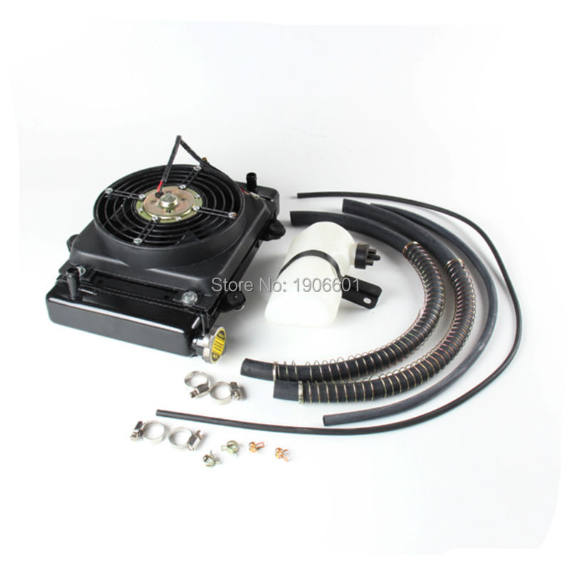 New 150cc 200cc 250cc Water cooling engine cooler kettle pipe & 12v FAN FOR moto Quad 4x4 ATV UTV parts new 200cc 250cc water cooling engine cooler radiator cooling 12v fan for motorcycle moto quad 4x4 atv utv parts