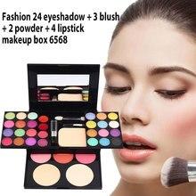 Набор для макияжа поле Профессиональный 33 цвет натуральный макияж наборы тени для век Блеск для губ пудра Макияж Комплект Maquiagem Косметика