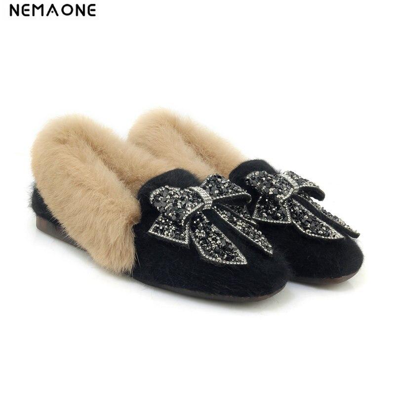 100% Wahr 2019 Frauen Flache Schuhe Slip Auf Schuhe Für Frauen Winter Schuhe Frau Große Größe Marke Schuhe Frauen Profitieren Sie Klein