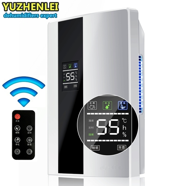 Remote Control 24 Hour Timing Intelligent Dehumidifiers Bathroom Bedroom Continuous Drainage Purify Air Dryer Moisture Absorb