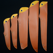 лучшая цена PU Faux Leather Universal Knife Sheath Family Portable Fruit Knife Multi-purpose Knife Knife Cover