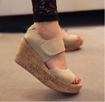 good quality new arrival women sandals genuine leather platform wedges female summer shoes open toe sandal woman plus size woman fashion high heels sandals women genuine leather buckle summer shoes brand new wedges casual platform sandal gold silver