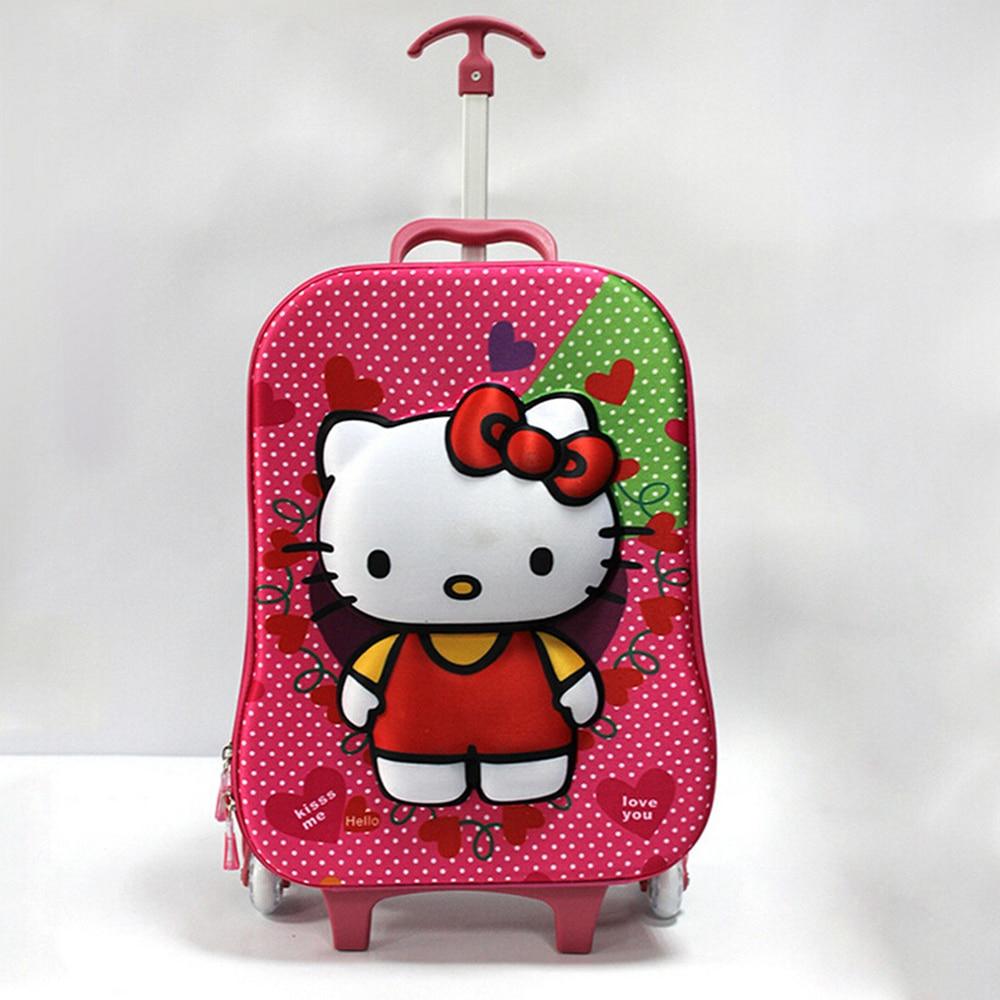 Tas Baru Anak Sekolah Hello Kitty Troli Membebani Tas Sekolah