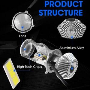 Image 2 - Hlxg 70 w/para lampa H4 mini projektor LED obiektyw Automobles LED żarówka zestaw do konwersji na LED Hi/reflektor z wiązką światła 12 V/24 V 5500K biały