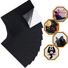 10 adet siyah keçe kumaş yapışkanlı levhalar çok amaçlı kadife levha yapışkan tutkal geri sanat ve el sanatları koruyucu pedleri May31