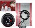 5ys garantía WATERPROOF12V asientos calefactables caliente almohadilla del asiento + cubierta de fibra de carbono universal car pad CushionW swtich termostato