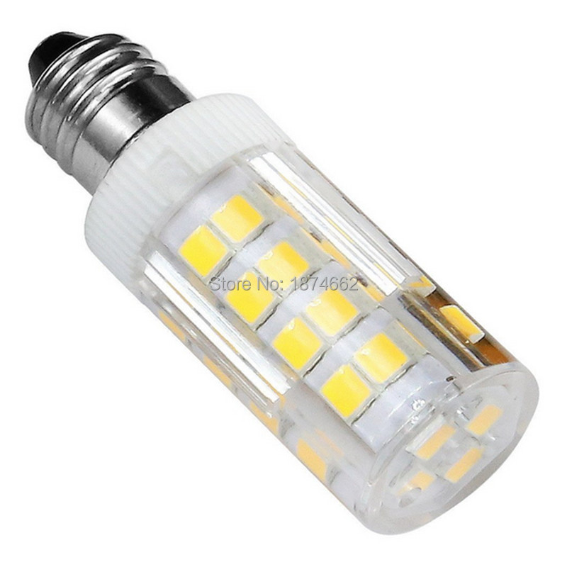 e12 led bulb 4 watt mini candelabra base 52 pcs chips 2835smd led corn bulb ac - E12 Led Bulb