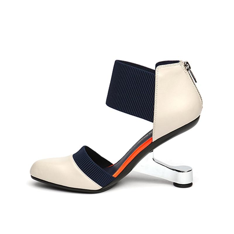 Haute Deux Métal Mélangée En Bout Talons Chaussures Femmes Hl55 Rond Couleur black blue Pompes Muyisexi pièce Gunmetal Femme apricot D'oray n8AgzAO
