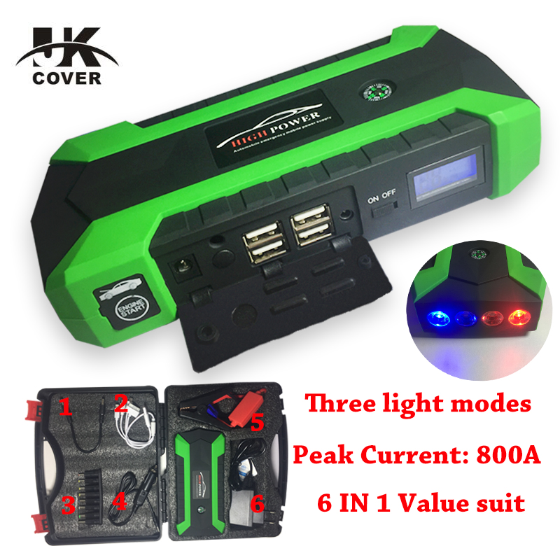 JKCOVER 68000 mWh Car Jump Starter Battery Car Booster Charger Emergency 60C Discharge Auto Starting High Power Pack Bank