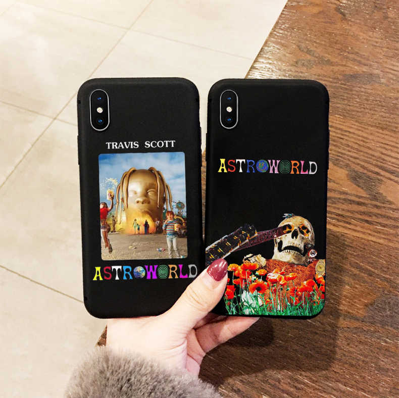 travis scott astroworld phone case for iPhone X 6 7 8 plus 5 5s 6s soft Silicone case for samsung s6 s7 s8 s9 plus