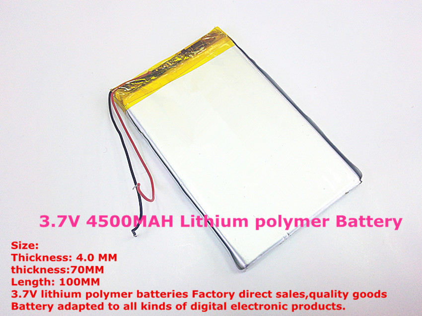 best battery brand 1PCS free shipping 3.7V 4500MAH <font><b>4070100</b></font> Lithium polymer Battery with protection board For MID 7inch Tablet PC image