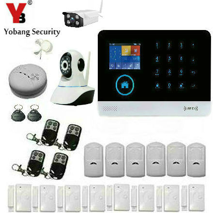 YobangSecurity APP Control Home Burglar Security Wireless Wifi Gsm RFID Alarm System Kit Remote Control Outdoor IP Camera yobangsecurity wireless wifi gsm burglar home security alarm system diy kit auto dial ios android app control home security