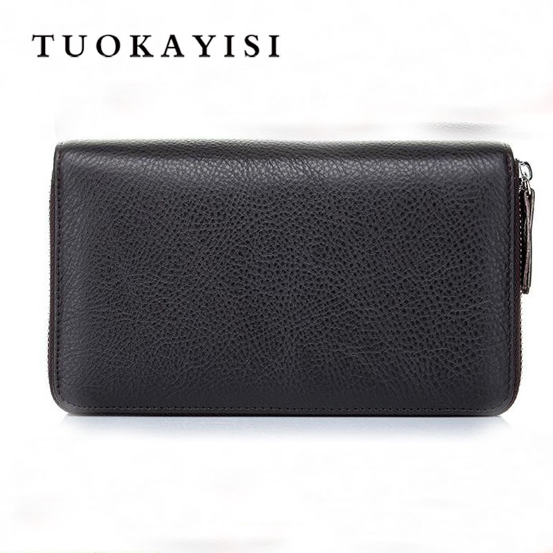 Luxury Male Cow Leather Purse Men's Clutch Wallets Handy Bags Business Carteras Mujer Wallets Men Embossed Black Brown 2016 luxury male 100% original leather purse men s clutch wallets handy bags business carteras mujer wallets men dollar price