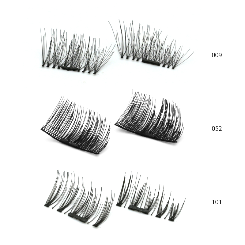 Magnetic Eyelashes False Eyelashes on magnets Reusable 3D Magnetic Extension Fake Eye Lashes Soft Easy To Wear Gift Women makeup