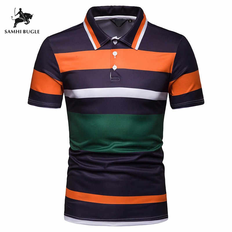 High Quality Brand Striped Shirt Men Polo Men Shirts 2019 Casual Cotton Camisa Polo Masculina Breathable Polos Hombre