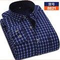 Invierno masculina camisa térmica engrosamiento de terciopelo camisa a cuadros camisa de moda de impresión ocasional delgada y el algodón térmico