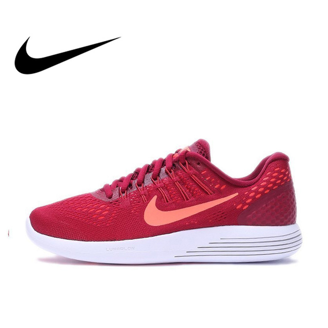 huge discount f66ea db4f4 US $184.9 20% OFF|Official Original Nike Authentic Women's LUNARGLIDE 8  Running Shoes Sports Sneakers Outdoor Walking Jogging Sneakers Classic-in  ...