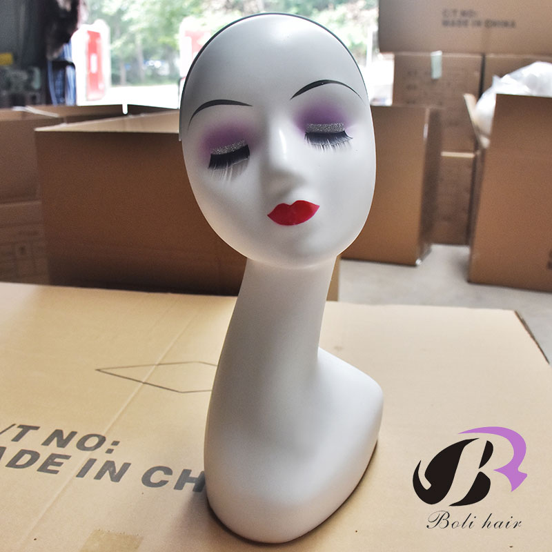Bolihair Mannequin Head ABS Dummy heads Manikin Head Mannequin Hair Hat Jewelry Display mannequin head Wig Stand Free shipping