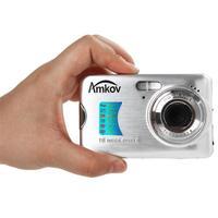 Amkov AMK CDFE 18 Megapixel Mini Pocket Camera HD Portable 1080P Camera 2.7 Inch LCD Screen Anti shake Digital Camera F3.0 Lens