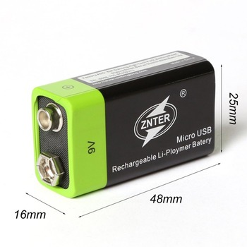 ZNTER Ultra-Efficient 9V 400mAh USB Rechargeable 9V Lithium Polymer Battery For RC Camera Drone Accessories 6