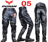 DUHAN motorcycle pants DK 05 Moto Racing trousers motorbike Riding pant made of quality PU leather Waterproof wind and warm