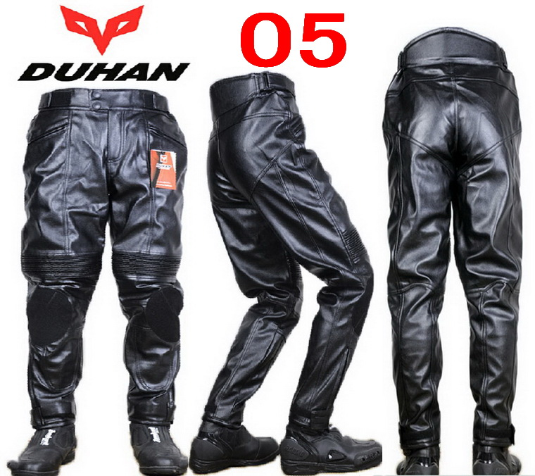 DUHAN motorcycle pants DK-05 Moto Racing trousers motorbike Riding pant made of quality PU leather Waterproof wind and warm