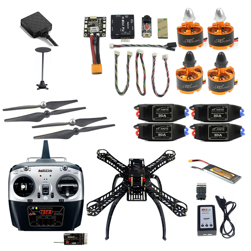 DIY Quadcopter 2.4G 8CH 360mm RC FPV Drone With Radiolink TX Receiver Mini PIX M8N GPS Altitude Hold Module Simonk ESC jjr c jjrc h43wh h43 selfie elfie wifi fpv with hd camera altitude hold headless mode foldable arm rc quadcopter drone h37 mini