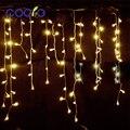 4.5 m Droop 0.3-0.5 m Stringa Tenda Ghiacciolo Ha Condotto Le Luci EU/Spina DEGLI STATI UNITI Casa Natale Decorazione Esterna