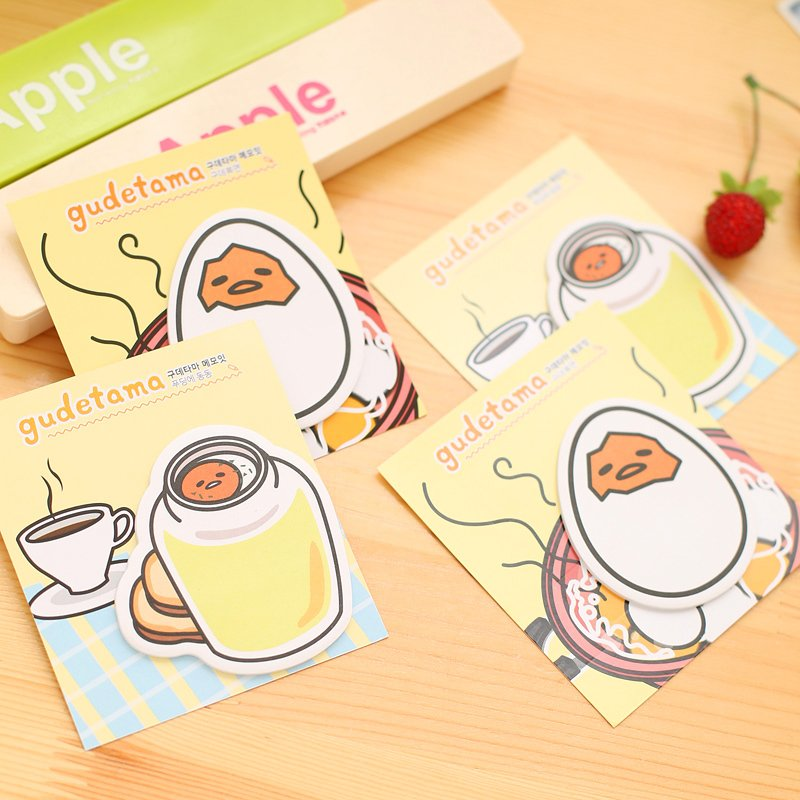 Lovely stationery eggshell memo pad cartoon N times stick note Message posted note book