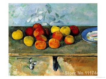 famous art Still Life of Apples and Biscuits 82 Paul Cezanne painting High quality Hand painted