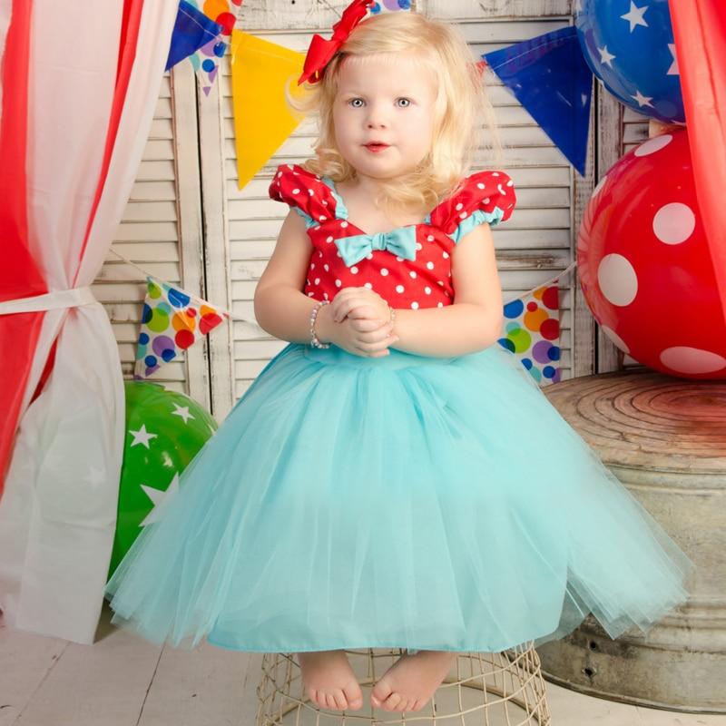 Girl Princess Children Clothing Prom 2 Years Birthday Dress Toddler Baby Girl Vestido Polka Party Wear Infantil Halloween Vestio