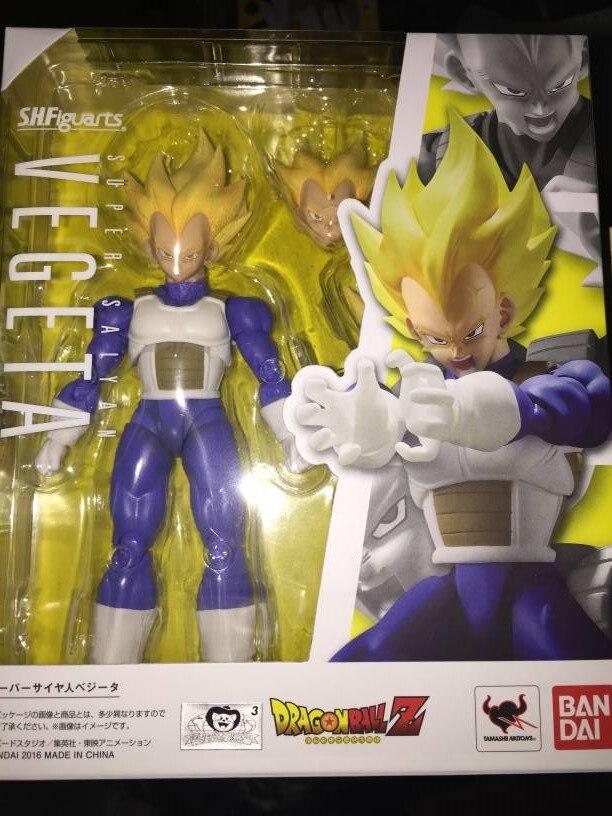 1/12 Dragon Ball Z Master Stars Piece Vegeta Super Saiyan Bandai SHF 2.0 original Figure Doll Toy Anime MSP goku figures SB300
