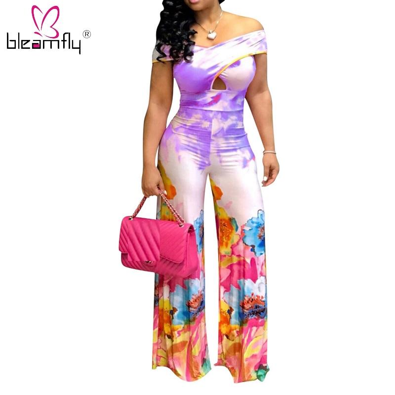 Mono Mujer Fiesta Verano Jumpsuit Casual Cintura Alta Oficina Piernas Anchas Elegante Pantalones Mono De Playa Negocios Clubwear Bodies Mujer Mameluco Playsuits Monos
