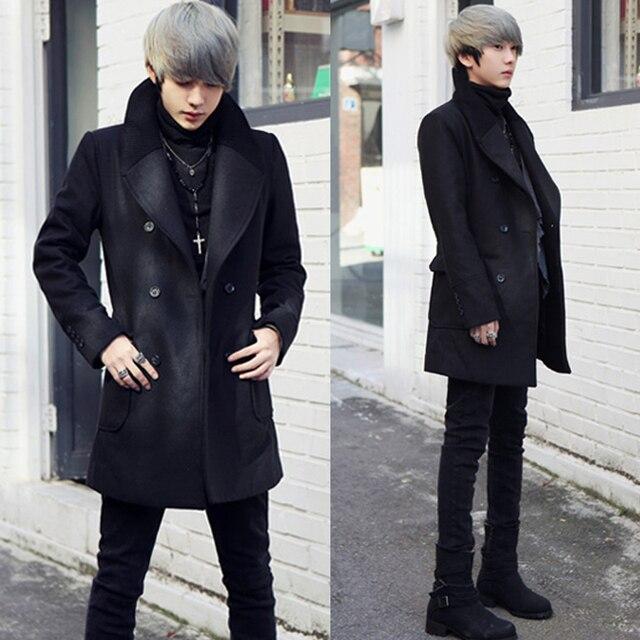 Jeune Noir Coréenne 2013 À Mode Double Automne Homme Mince Hiver 7pYqwwTC