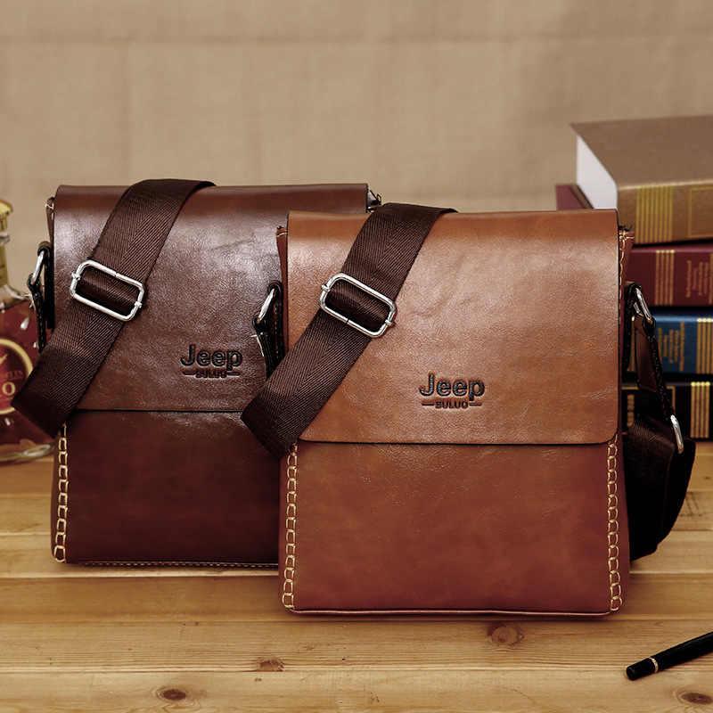 e7b21b4e3ed1 2019 новый дизайнер джип для мужчин сумки на плечо повседневное курьерские Сумки  Best кожа мужчин's Crossbody