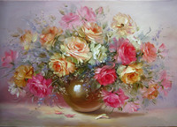 DIY Digital Oil Painting Flower Picture Quadros Home Decor Wall Art Arrangement On Canvas Painting By
