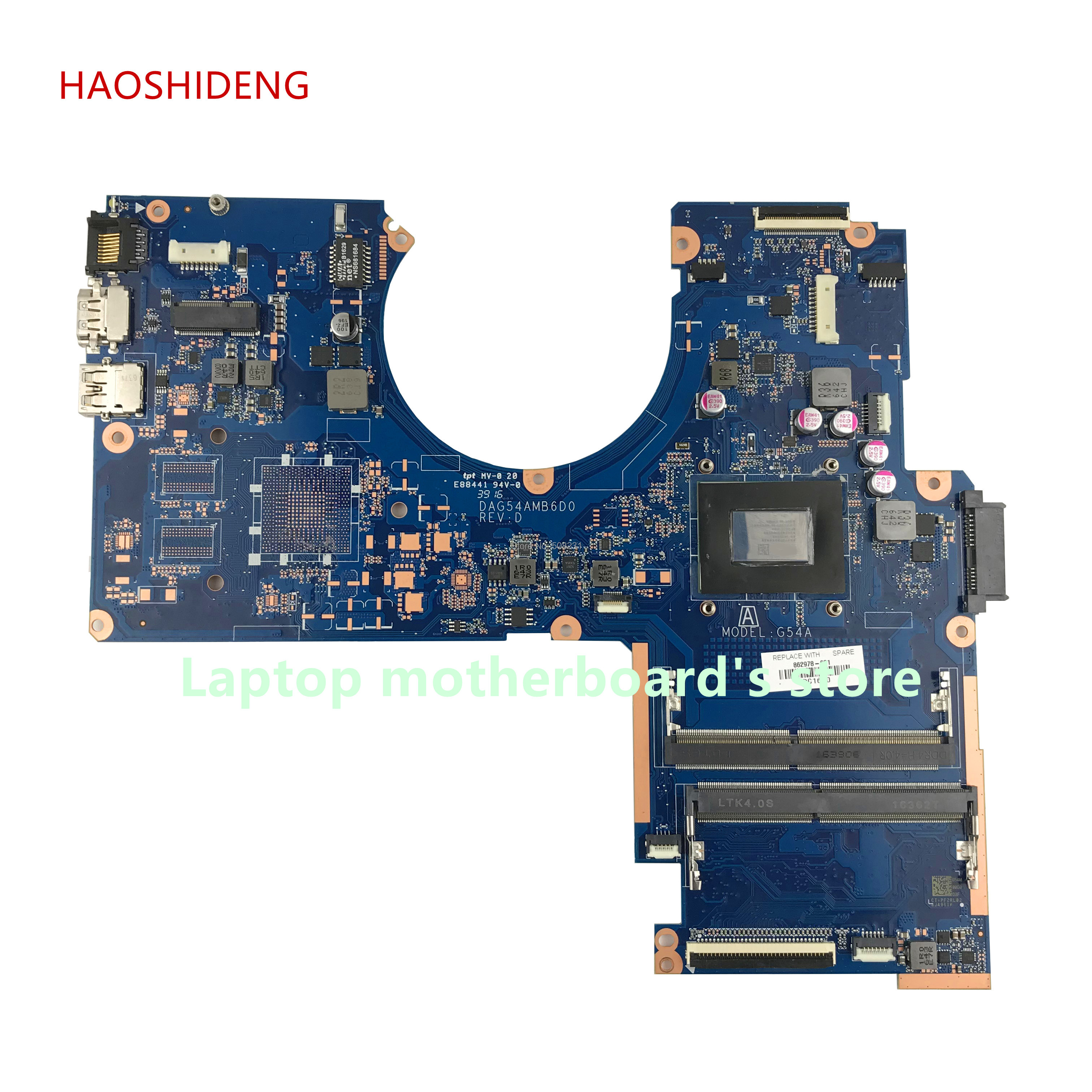 HAOSHIDENG 862978-601 G54A DAG54AMB6D0 for HP Pavilion 15-AW A5Z-AW 15-AW092nr Notebook motherboard with A12-9700P fully Tested haoshideng 809336 601 da0x22mb6d0 x22 for hp pavilion notebook 15 ab 15 ab188cy motherboard with a6 6310 cpu fully tested