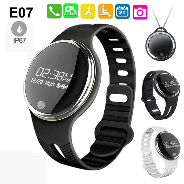 New Arrivals Swimming Waterproof Smart Bracelet E07 Passometer Activity Fitness Tracker Wristband For Android IOS Smart phone