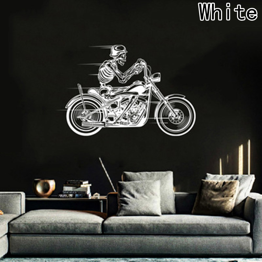 Aliexpress com buy new for motorcycle skeleton biker skull car truck window wall laptop vinyl decal sticker car styling from reliable decal sticker