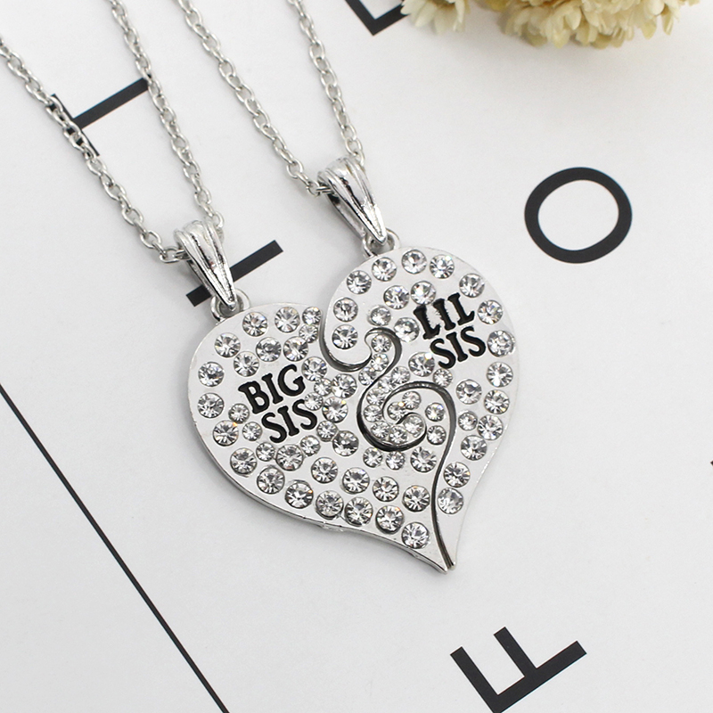 2 Pieces/set Of Simple Ladies Necklace Good Sisters Heart-shaped - Fashion Jewelry - Photo 6