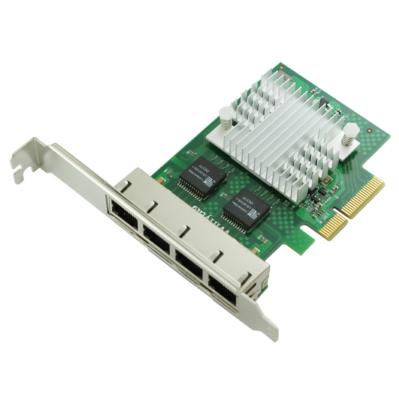 PCIe X4 Quad Port Gigabit Ethernet Server Card 10/100/1000Mbps NHI350AM4 Chipset pcie x1 4 port gigabit ethernet server card adapter 10 100 1000mbps i340 t4 esxi