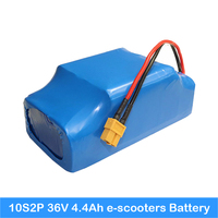 18650 protected 36V 4400mah battery For self balance hoverboard scooter 2 Wheels replacement li ion battery for electric scooter