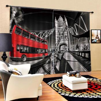 Drapes Cortinas Curtain office Bedroom 3D Window Curtain Luxury living room decorate Cortina Retro car curtainsw for bedroom