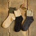 Invierno Mujeres Retro Rodilla Calcetines Japoneses Kawaii Calcetines de Lana Lindo Colorido Del Calcetín Del Algodón