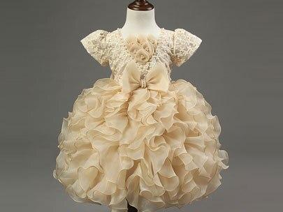 Uşaqlar körpə qızlar krujeva Tül çiçək Princess paltarı - Uşaq geyimləri - Fotoqrafiya 5