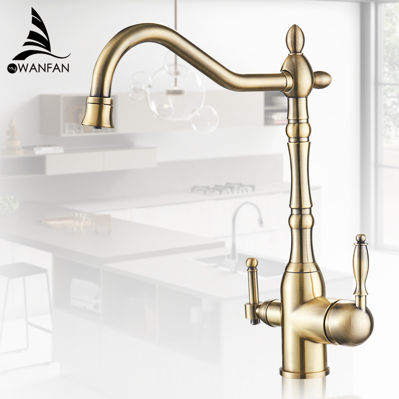 Kitchen Purify Faucets Gold Mixer Tap Cold And Hot 360 Rotation With Water Purification Features Kitchen Crane Tap MH-0193