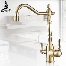 Kuchnia oczyścić baterie złota Mixer Tap zimna i ciepła 360 obrót z oczyszczania wody funkcje kuchnia żuraw dotknij MH 0193