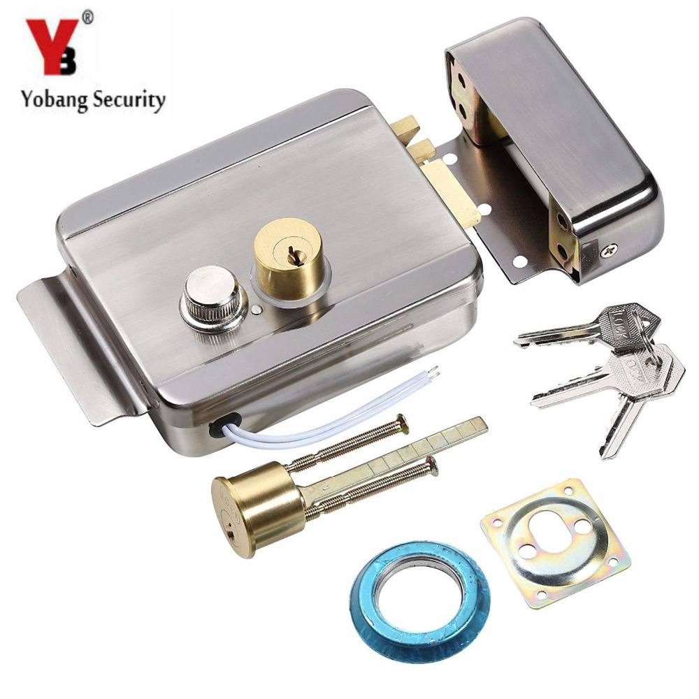 YobangSecurity Anti-theft Electric Control Release Rim Door Lock Fail Secure Stainless Steel top quality 304 stainless steel interior door lock big 50 small 50 series bedroom door anti insert handle lock