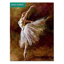 Diy diamond painting Lonely ballet dancer square mosaicfull embroidery people full cross stitch