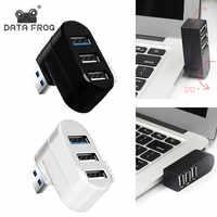 DATEN FROSCH Mini 3 Ports USB 2.0/3,0 Hub Drehbare Adapter Für Laptop PC Notebook Gedreht 270 Grad Starke Kompatibilität HUB